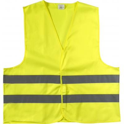 Image of High visibility promotional safety jacket.