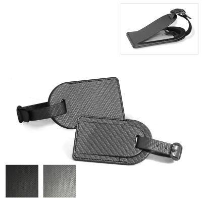 Image of Carbon Fibre Effect Small Luggage Tag